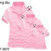 CT3022 Ao Thun Gia Dinh Co Tru Mau Hong In Mieng Cuoi