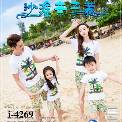 I4269 Mau Ao Thun Gia Dinh In Hoa Tiet Dua Bien