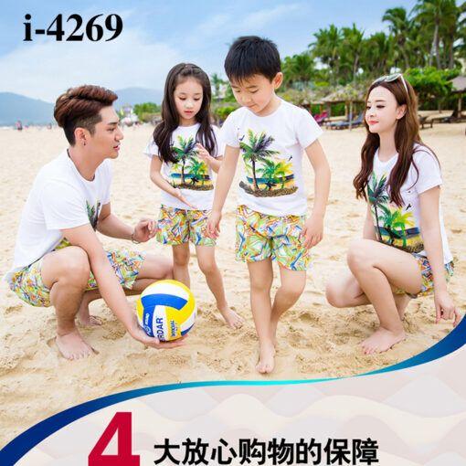 I4269 Mau Ao Thun Gia Dinh In Hoa Tiet Dua Bien 7 Mau