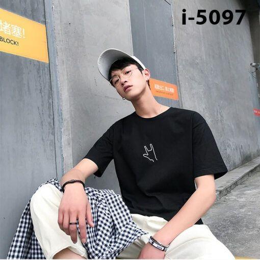 I5097 Ao Thun Nam Tay Ngan Ban Tay 3 Ngon