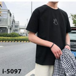 I5097 Ao Thun Nam Tay Ngan In Ban Tay 3 Ngon