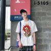I5105 Ao Thun Nam Tay Ngan Hinh Meo Hoa