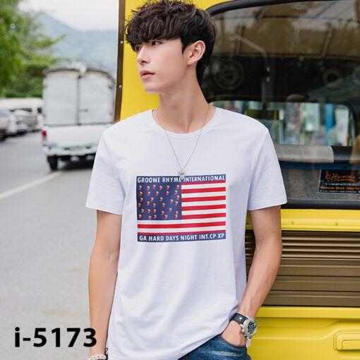 I5173 Ao Thun Nam Tay Ngan Hinh La Co GROOWE RHYME INTERNATIONAL 2019