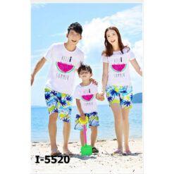 I5520 Ao Thun Dong Phuc Gia Dinh Dua Hau HELLO SUMMER