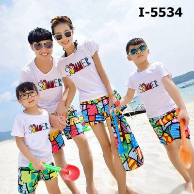 I5534 Ao Thun Gia Dinh Tay Ngan SUMMER