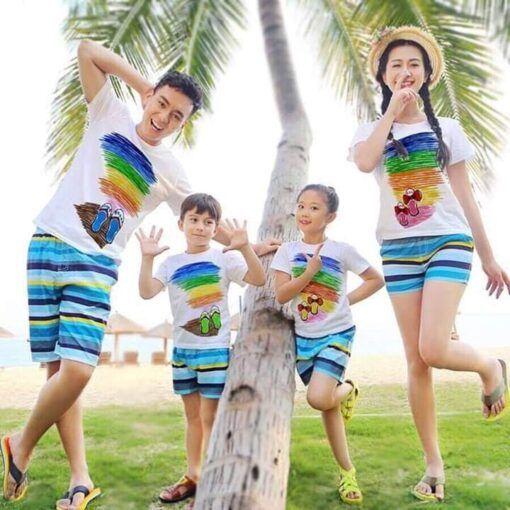I5547 Ao Thun Dong Phuc Gia Dinh Du Lich Bien Hinh Dep 2020