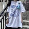 I6165 Ao Thun Nu Unisex Mau Trang Hinh 2 Chu Gau Lai Oto Dangerous Criminal