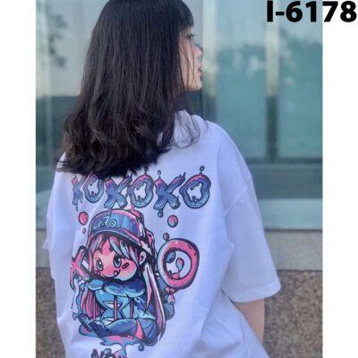 I6178 Ao Thun Nu Unisex Hoat Hinh XO XO XO 2