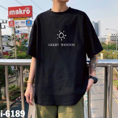 I6189 Ao Thun Nam Unisex Mau Den In Mat Troi GKKRT WENTON 1