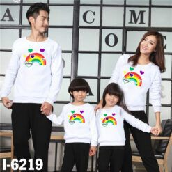 I6219 Ao Thun Gia Dinh Tay Dai Bo In Cau Vong 7 Mau