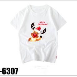 I6307 Ao Thun Doi Mau Trang In Noel Merry Christmas