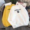 I6340 Ao Thun Nu Sweater Tay Dai Bo In Meo I NEED YOU