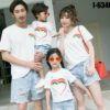 I6346 Ao Thun Gia Dinh Mau Trang In Trai Tim Cau Vong 7 Mau
