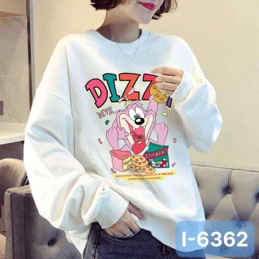 I6362 Ao Thun Sweater Nu In Hoat Hinh DIZZY