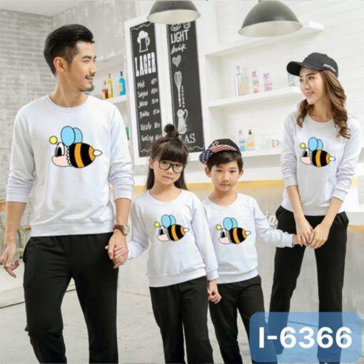 I6366 Ao Thun Sweater Gia Dinh In Con Ong