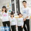 I6367 Ao Thun Sweater Gia Dinh In MOM DAD BABY