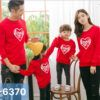 I6370 Ao Thun Sweater Gia Dinh In Trai Tim Loves Son