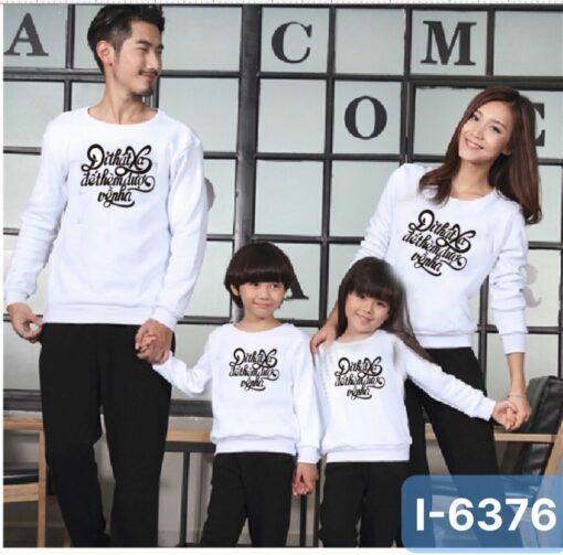 I6376 Ao Thun Weater Gia Dinh In Di That Xa De Them Duoc Ve Nha