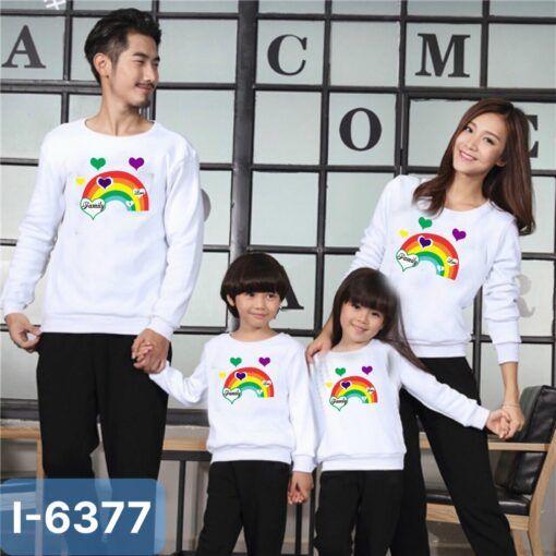 I6377 Ao Thun Sweater Gia Dinh In Cau Vong Family