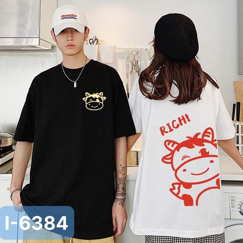 I6384 Ao Thun In Rich Con Trau