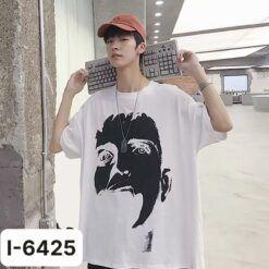 I6425 Ao Thun Unisex Nam In Khuon Mat Boy