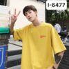 I6477 Ao Thun Nam Mau Vang Nghe In Logo Chu plusmans