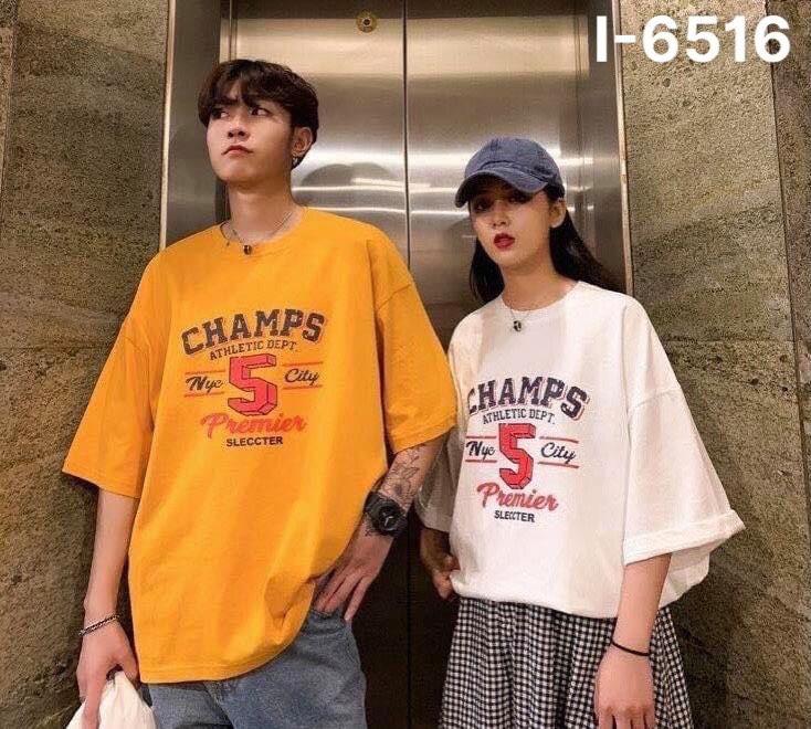 I6516 Ao Thun Doi In Chu CHAMPS 5
