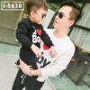i5838 ao thun vay ca tay dai bo bo va be i love baby 9333