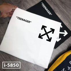 i5850 ao thun nam unisex in logo x teenager 6778