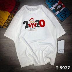 i5927 ao thun nu unisex mau trang in tet 2020 1829