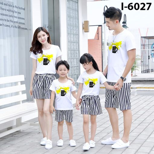i6027 ao thun dong phuc gia dinh in ly beer 7816