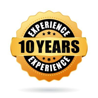 years experience gold vector seal isolated white background 162936738